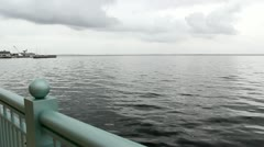 Pensacola Bay on Overcast Day Stock Footage