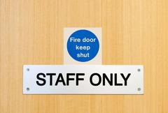 staff only sign - stock photo