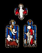Religious stained glass window Stock Photos