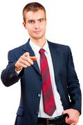 Young man in a suit Stock Photos