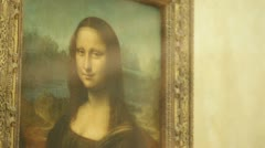 Mona Lisa painting Stock Footage
