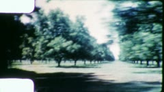 Orchard Agriculture Trees Grove Vintage Film Retro Film Old Home Movie 5675 Stock Footage