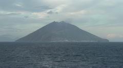Stromboli island, medium shot Stock Footage
