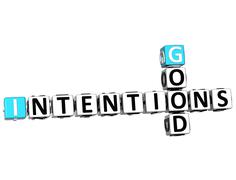 Stock Illustration of 3d good intentions crossword