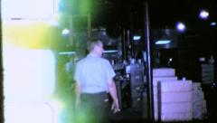 American WAREHOUSE INDUSTRY FACTORY 1960s (Vintage Film Home Movie) 5677 Stock Footage