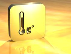 3d accepted temperature gold sign Stock Illustration
