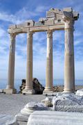 athena temple - stock photo