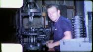 Stock Video Footage of MACHINIST American INDUSTRY FACTORY 1960s (Vintage Film Home Movie) 5678