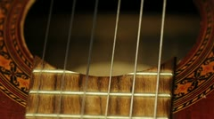 playing on a guitar - stock footage