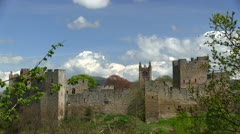 Ludlow Castle and St. Laurence's Church, Ludlow, Shropshire Stock Footage