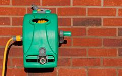 garden hose reel kit - stock photo