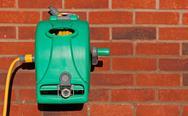 Garden hose reel kit Stock Photos