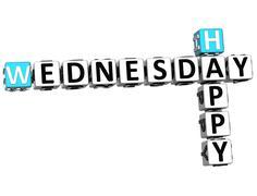 3d happy wednesday crossword Stock Illustration