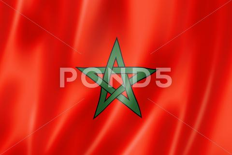 Stock photo of moroccan flag