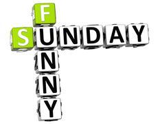 3d funny sunday crossword Stock Illustration
