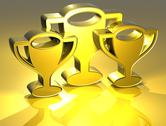 Stock Illustration of 3d prize gold sign