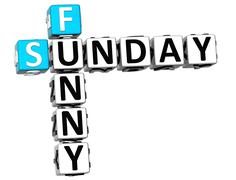 3d funny sunday crossword - stock illustration