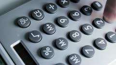 Calculator Overhead - stock footage