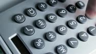 Stock Video Footage of Calculator Overhead