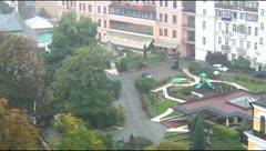 Kiev near St. Sophia Cathedral Stock Footage