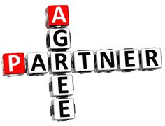 3d agree partner crossword Stock Illustration