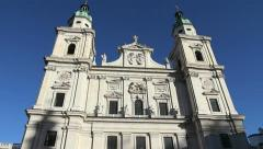Salzburg Cathedral Stock Footage