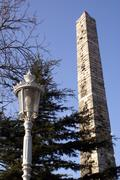 lamp and obelisk - stock photo