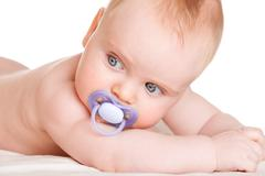 six-month-old baby - stock photo