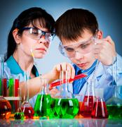 schoolteacher and student - stock photo