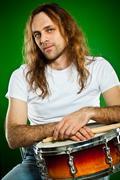 drummer man - stock photo
