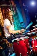 Playing drums Stock Photos