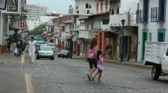 Puerto Vallarta Mexico street traffic timelapse fast HD 3778 - stock footage