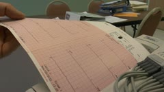 Electrocardiograph Stock Footage