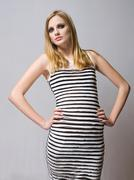 Young blond fashion model. Stock Photos