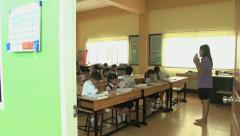 Asian Classroom - Tilt Down Shot Stock Footage