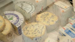 Selection of french cheese - stock footage