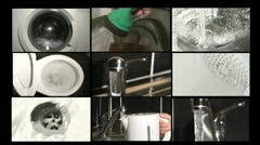 Wasting water at home Stock Footage