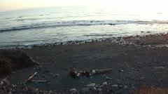 Waves on loast coast california Stock Footage