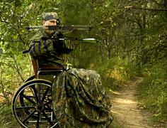 disabled  hunter - stock photo