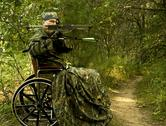 Stock Photo of disabled  hunter