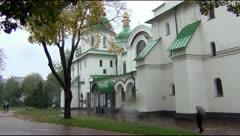 St. Sophia Cathedral in Kiev Stock Footage