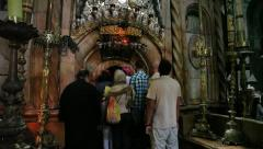 Church of the Holy Sepulchre: The Rotunda and the Edicule Stock Footage