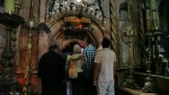 Stock Video Footage of Church of the Holy Sepulchre: The Rotunda and the Edicule