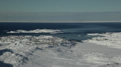 Scenic view over Sisimiut, Greenland Stock Footage