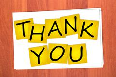 Word thank you on stickers Stock Illustration