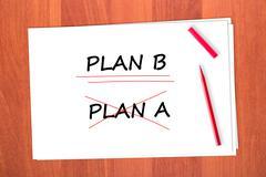plan b - stock photo