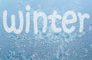 Stock Illustration of frost pattern and word winter