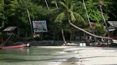 Beautiful Beach on Koh Phangan. Haad Salad. - stock footage