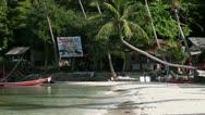 Stock Video Footage of Beautiful Beach on Koh Phangan. Haad Salad.