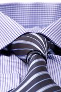 Blue shirt with a tie Stock Photos